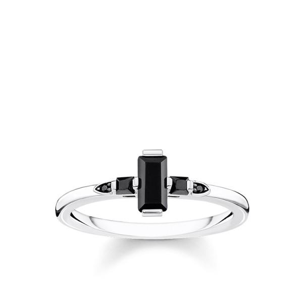Thomas Sabo Ring Stein schwarz Größe 52 TR2266-643-11-52