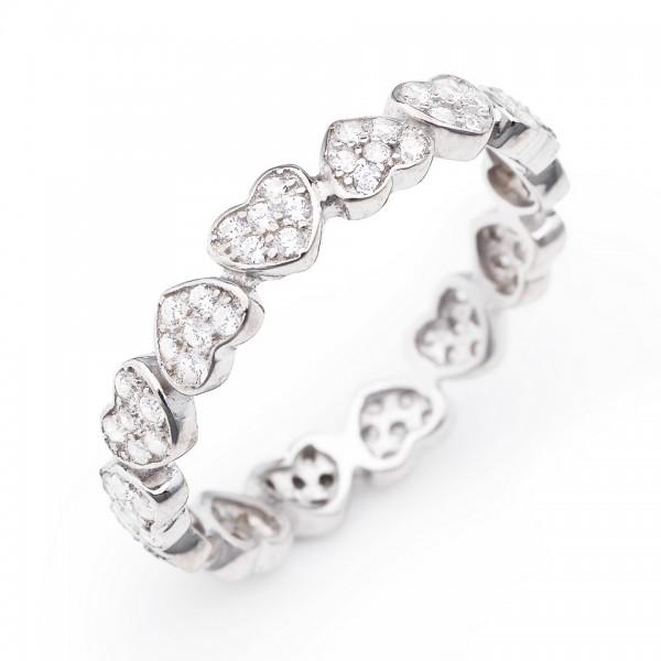 AMEN Ring Silber Herz Gr. 58 RHHZ-18