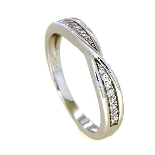 Ring Silber 925 rhodiniert Zirkonia Weite 60