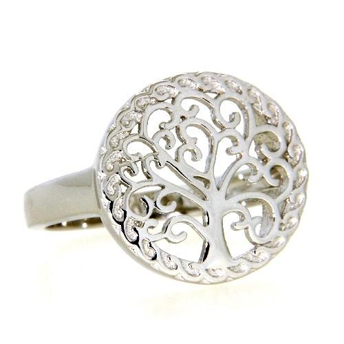 Ring Silber 925 rhodiniert Lebensbaum Weite 54